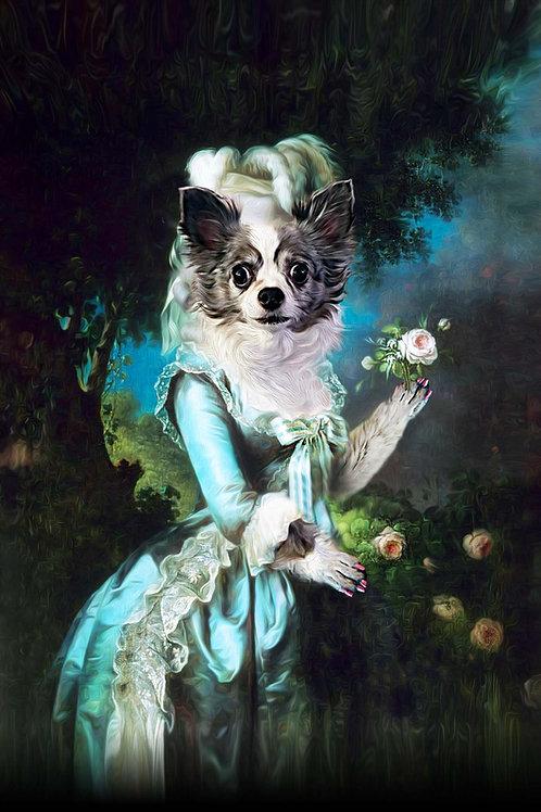 Marie Antoinette with Flower