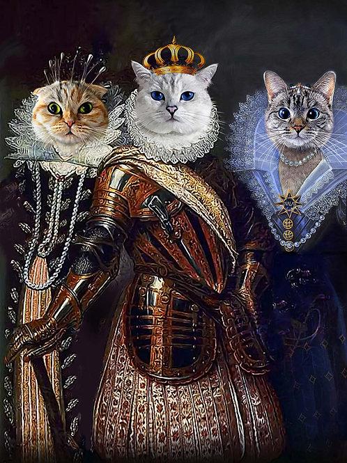 Medici Family - Three Pet Portrait