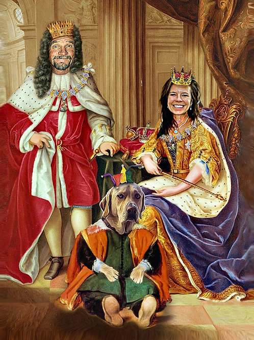 Queen Anne, Prince George and Jester