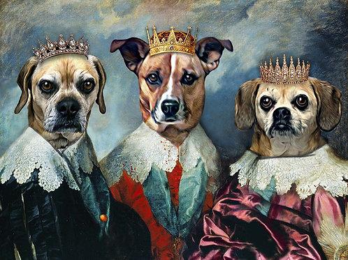 King Charles Triple Portrait