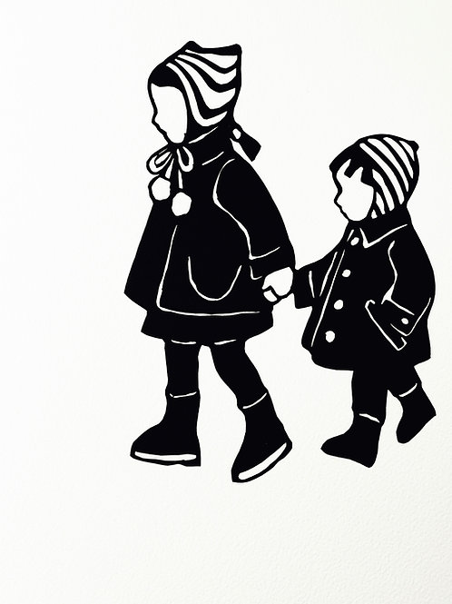 """(#112/2020) """"hold my hand , hold it tight {1}"""" (12x12"""")"""