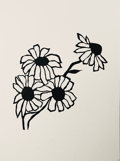 """(#185/2020)in happiness or sadness flowers are our friends {15}12x12"""""""