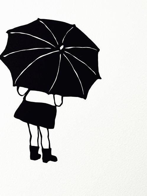 """(#168/2020) """"the rain is raining all around {1}"""" (12x12"""")"""