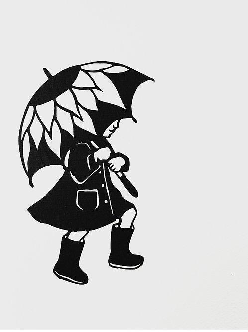 """(#126/2020""""the rain is raining all around {3}"""" (12x12"""")"""