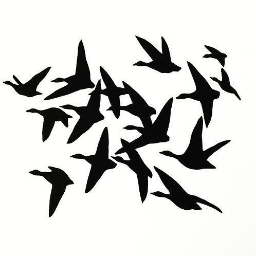 (#195/2020)i saw the sky fully covered by the birds{1} 16x16""