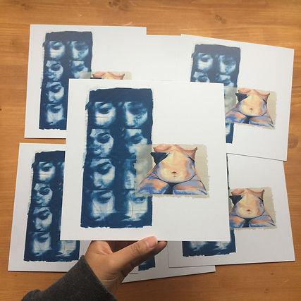 joliz dela pena art print store cyanotype normal bodies