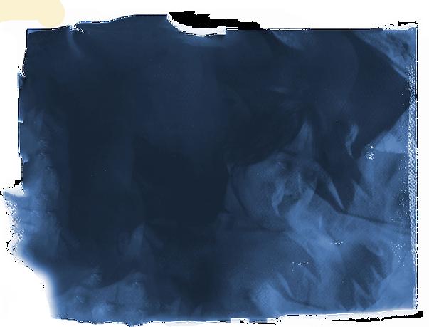 joliz dela pena cyanotype self portrait