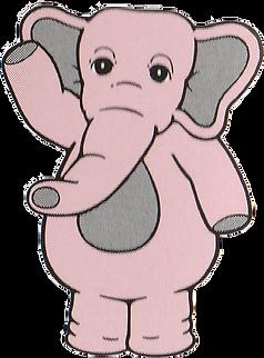 Johnson the Pink Elephant Waving