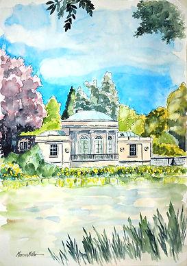 Syon Park Pavilion Boathouse, watercolour & ink painting
