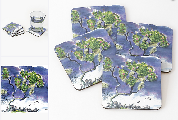 Crystal Coasters Set of 4