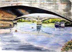 Twickenham Bridge overlooking Richmond
