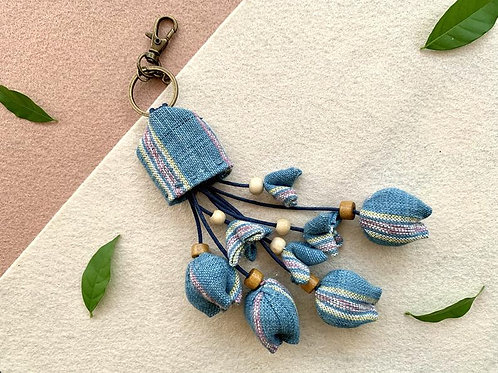 Hand woven cotton key chain