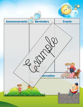 Nursery Rhyme Theme Custom Newsletter