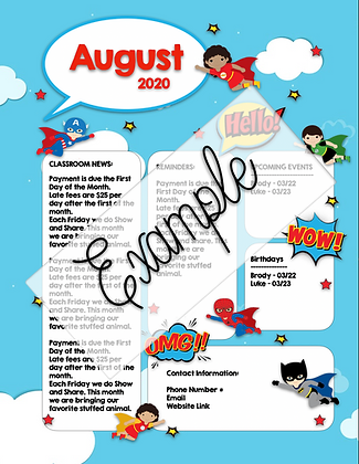 Superhero Theme Custom Newsletter #1