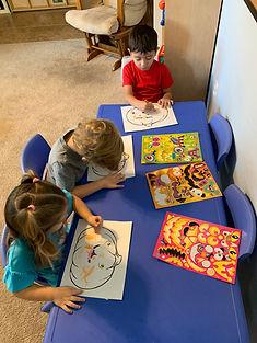 children pumpkin activity drawing