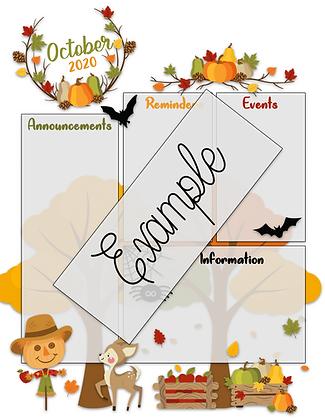 Fall Custom Newsletter