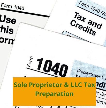 Sole Proprietor and LLC (Single Member) Tax Preparation