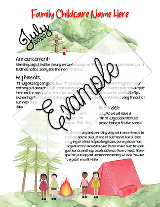Camping Theme Custom Newsletter #7