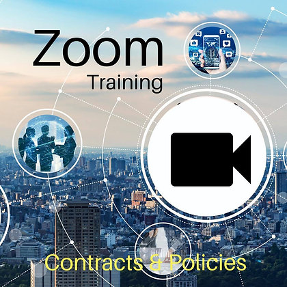 Zoom Training: Contracts and policies. 2 Hours.