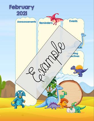 Dinosaur Theme Custom Newsletter