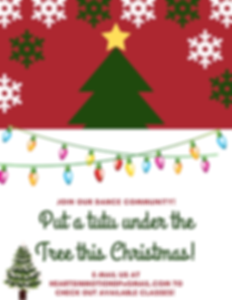 Dark Blue Chalk Decor Christmas Flyer.pn
