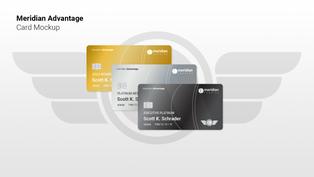Meridian Advantage Card Mockup