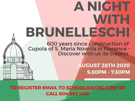 A Journey into Italian Culture. First Theme: Architecture (starting Aug 28, 2020)