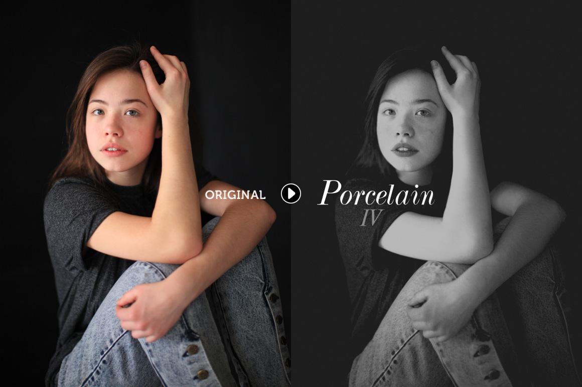 Porcelain B&W Lightroom Presets - preview