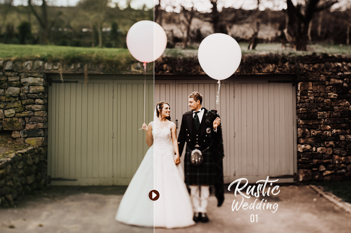 Rustic Wedding Presets - preview