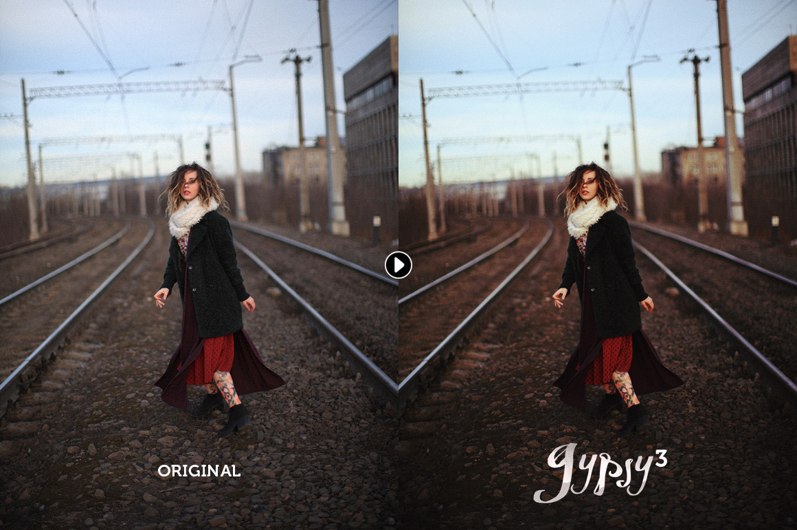 Gypsy Photoshop action - preview