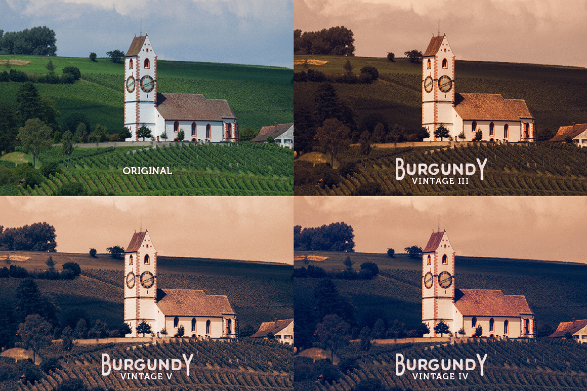 Burgundy Lightroom Presets - preview