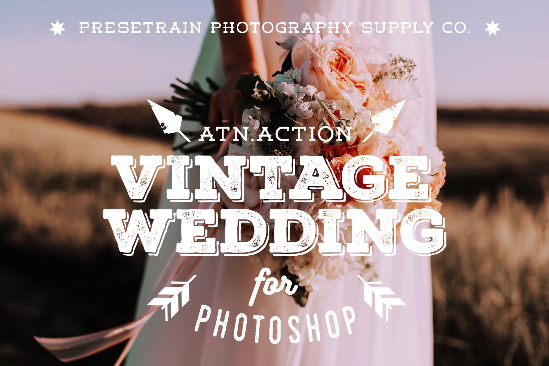 Vintage Wedding Action for Photoshop by