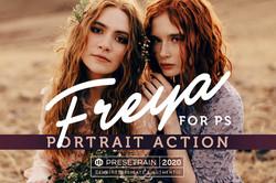 Freya Portrait Photoshop action by Prese