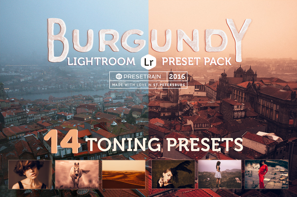 Burgundy Lightroom Presets - cover