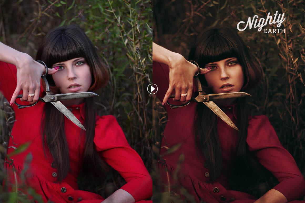 Nighty Portrait Photoshop Actions - preview