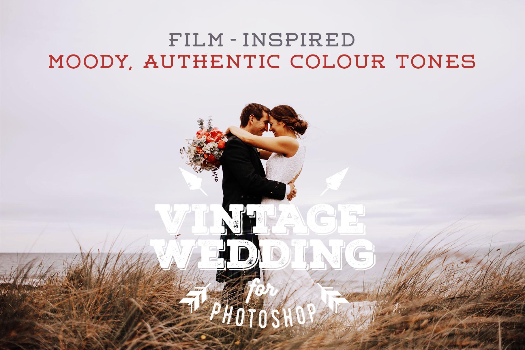 Vintage Wedding Photoshop Action by Pres