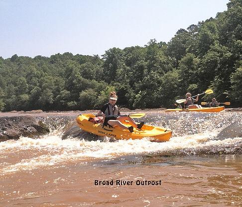 kayaking the broad river