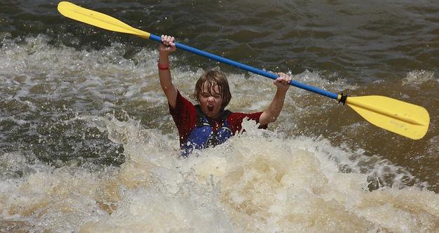 white water kayaking broad river