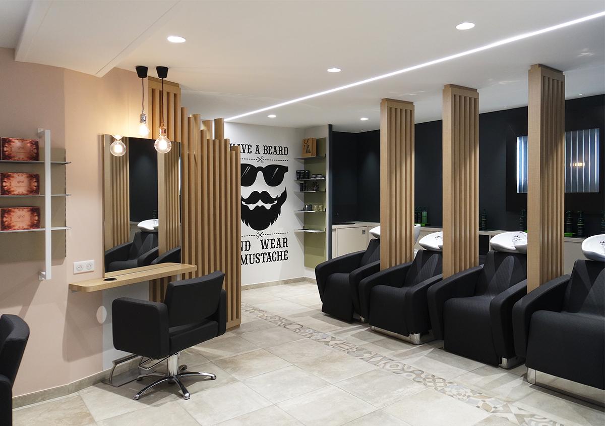 Architecte D Intérieur Douai reportage - salon de coiffure frimousse | céline henri architecture