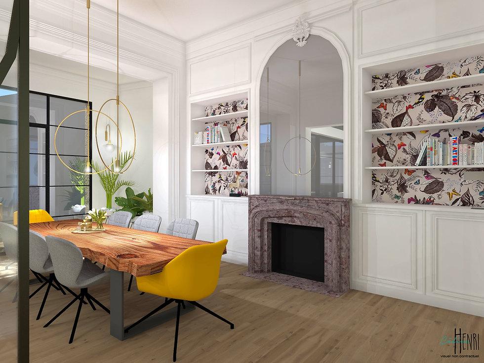 Salle à manger maison bourgeoise Lille