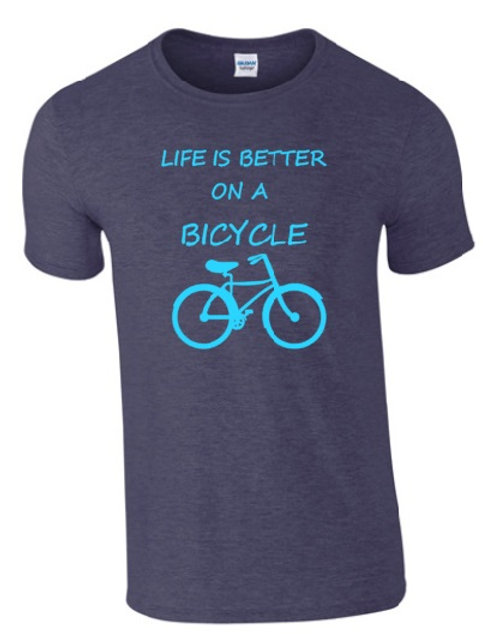 LIFE IS BETTER ON A BICYCLE T-SHIRT