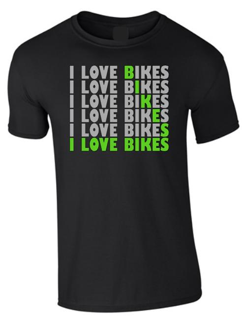I LOVE BIKES T-SHIRT