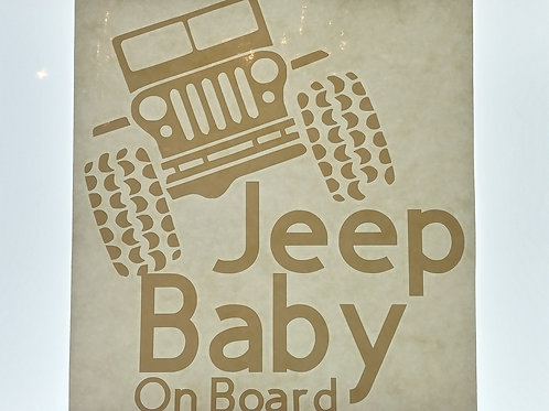 Jeep baby on board decal