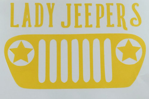 Lady Jeepers Decal 5x4