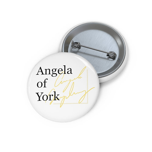 Angela of York Pin Buttons