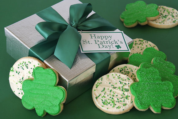 Buttercream Frosted Shamrock Cookies