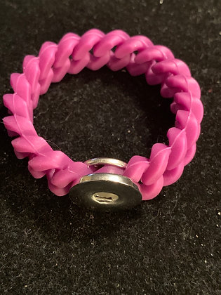Purple rubber braid