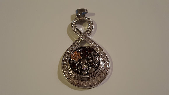 8 shaped locket with chain