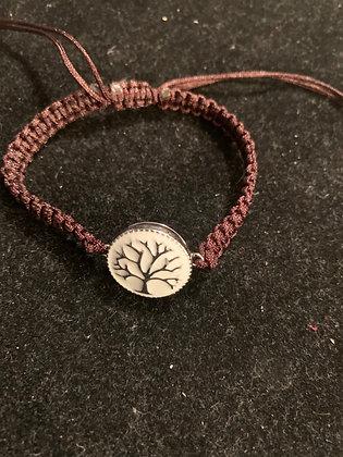 Brown braided string