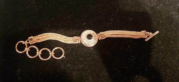 Single snap Rose gold bracelet